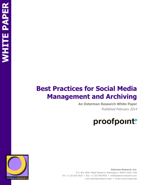 Best Practices for Social Media Management and Archiving