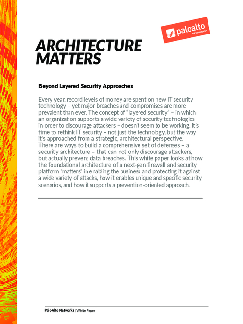 Beyond Layered Security Approaches