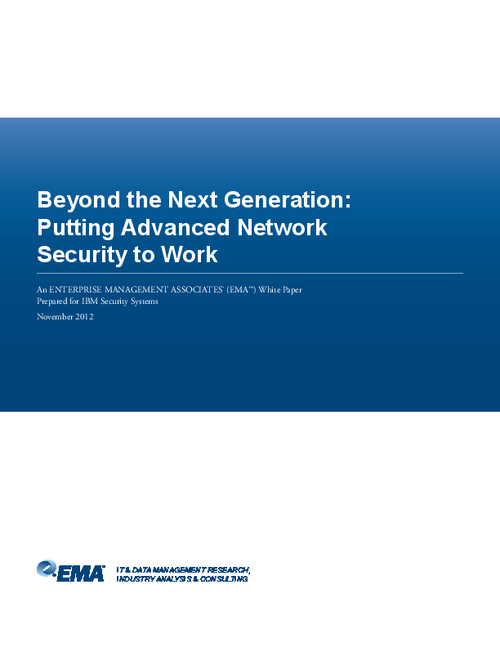 Beyond the Next Generation: Putting Advanced Network Security to Work