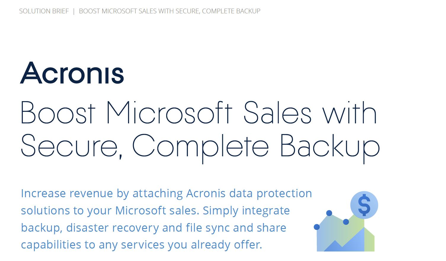 Boost Microsoft Sales with Secure, Complete Backup