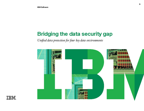 Bridging the Data Security Gap - Unified Data Protection For Four Key Data Environments