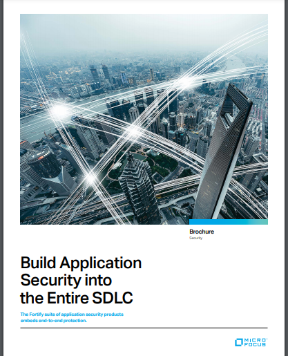 Build Application Security into the Entire SDLC