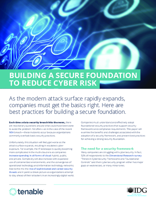 Reducing Cyber Risk: A Secure Foundation