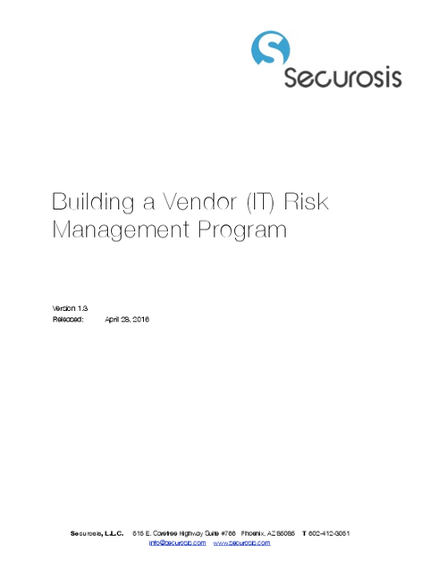 Building An IT Vendor Risk Management Program