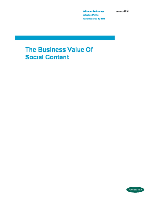The Business Value of Social Content