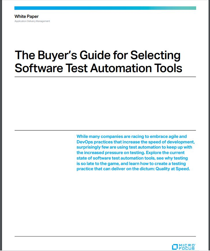 The Buyer's Guide for Selecting Software Test Automation Tools