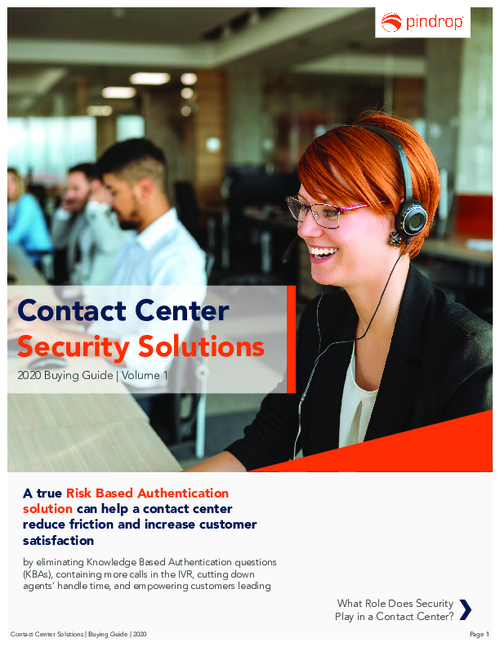 A Buyer's Guide to Contact Center Security Solutions