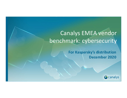 Canalys Worldwide Vendor Benchmark: Cybersecurity