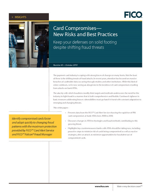 Card Compromises - New Risks & Best Practices