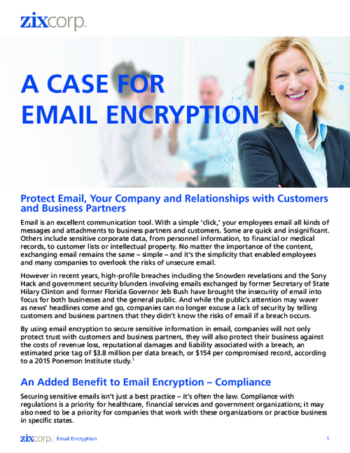 A Case for Email Encryption