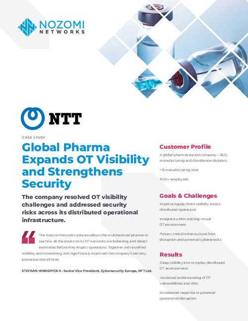 Case Study: Global Pharma Expands OT Visibility and Strengthens Security