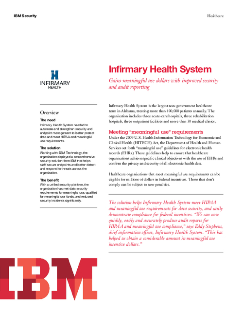 Case Study: Infirmary Health System