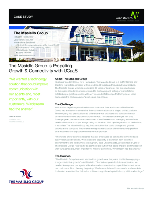 Case Study: The Masiello Group is Propelling Growth & Connectivity with UCaaS