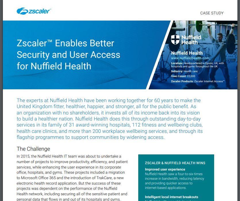 Nuffield Health Secures 142+ Locations