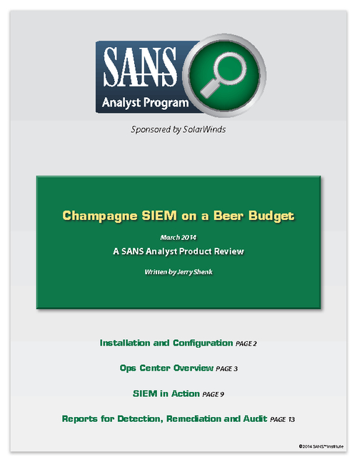 Champagne SIEM on a Beer Budget