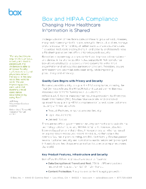 Changing How Health Information is Shared: Box and HIPAA Compliance