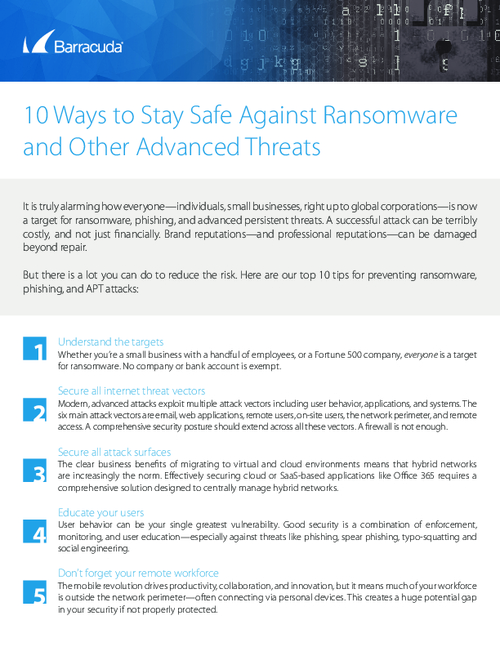 Checklist: Top 10 Ways to Protect Yourself from Ransomware