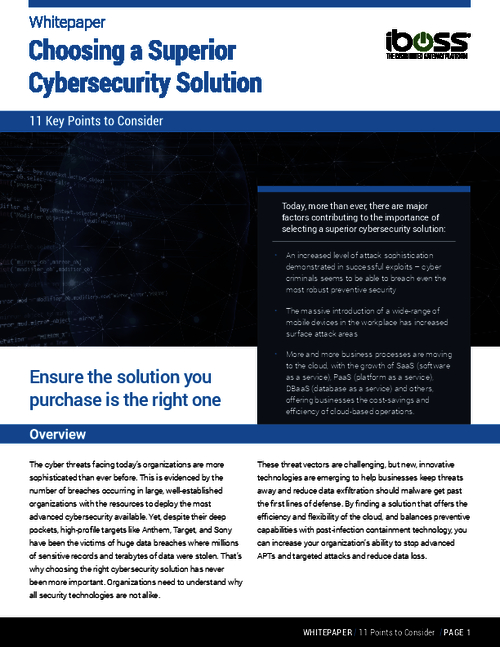 Cybersecurity Solutions: Lowering Your TCO, Advantages of Cloud Security, and More