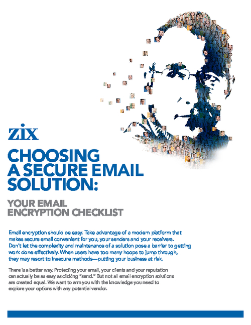 Choosing a Secure Email Solution: Email Encryption Checklist