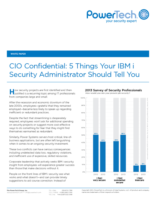 CIO Confidential: 5 Things Your IBM i Security Administrator Should Tell You