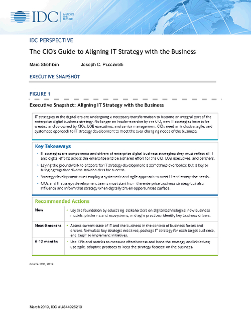 The CIO's Guide to Aligning IT Strategy with the Business