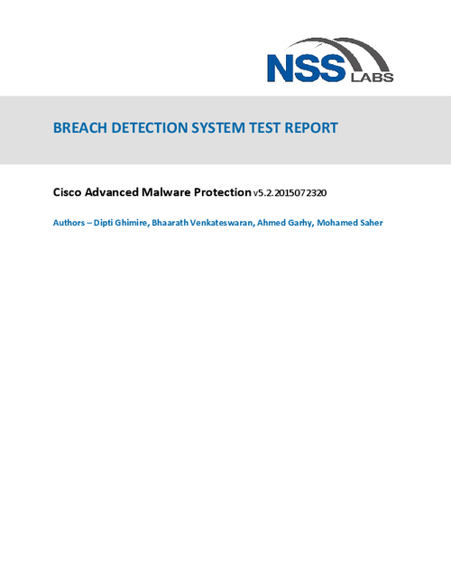 Cisco Advanced Malware Protection Leads Again in NSS Labs Breach Detection Report