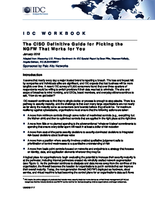 The CISO Definitive Guide for Picking the NGFW That Works for You