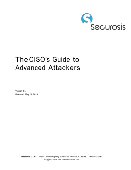 The CISO's Guide to Advanced Attackers