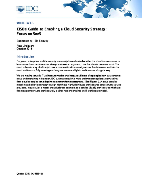 CISO's Guide to Enabling a Cloud Security Strategy