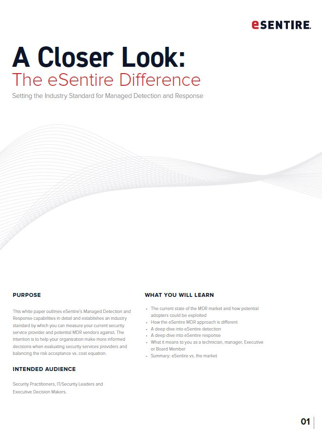 A Closer Look: Managed Detection and Response (MDR)