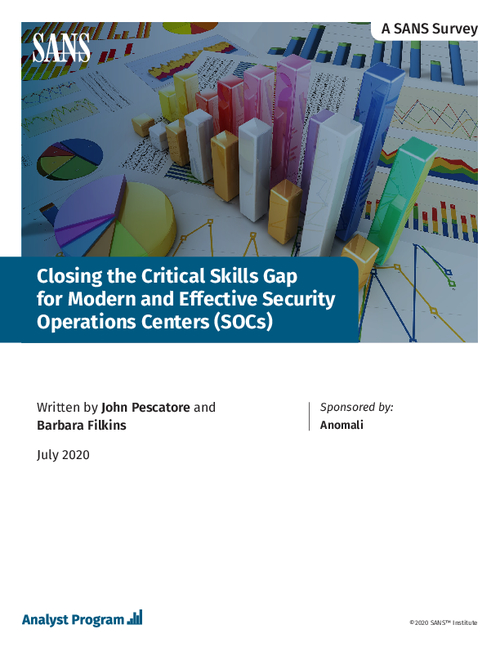 Closing the Critical Skills Gap for Modern and Effective Security Operations Centers (SOCs)