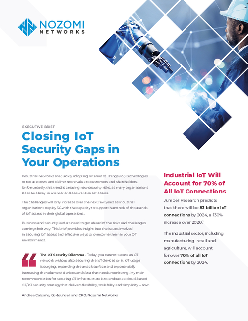 Closing IoT Security Gaps in Your Operations
