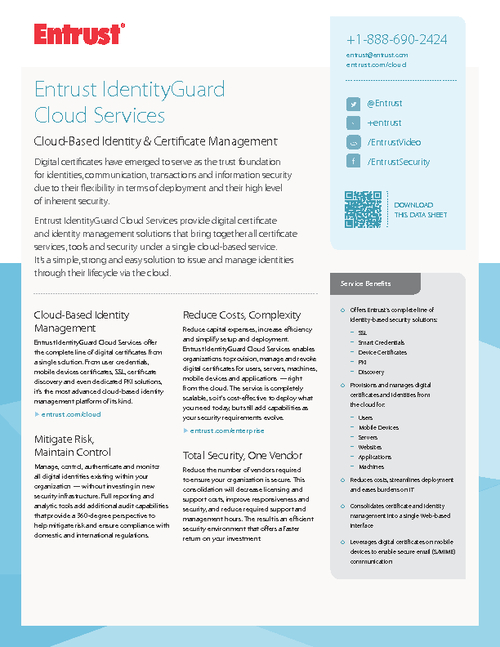 Cloud-Based Identity and Certificate Management