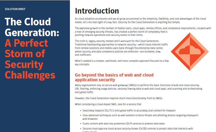 The Cloud Generation: A Perfect Storm of Security Challenges