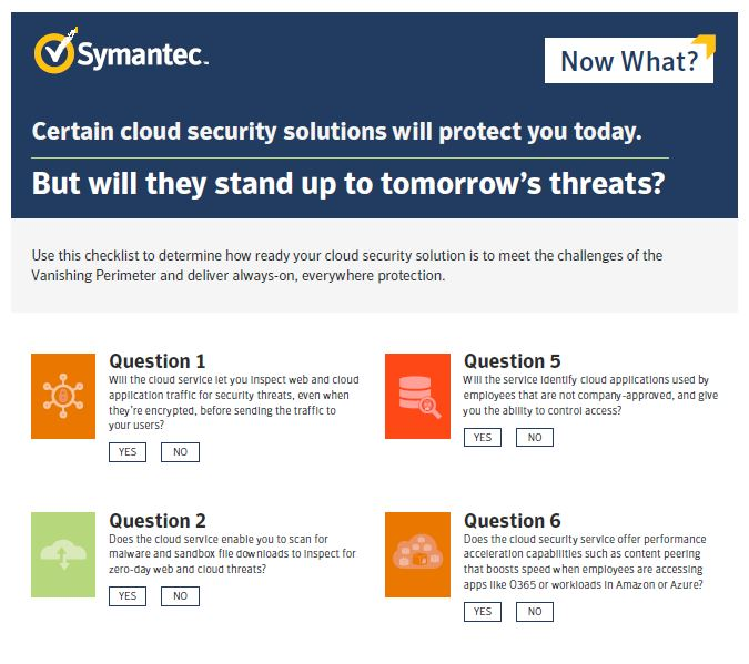 Cloud Security Solutions Checklist: Which Will Stand Up to Tomorrow's Threats?