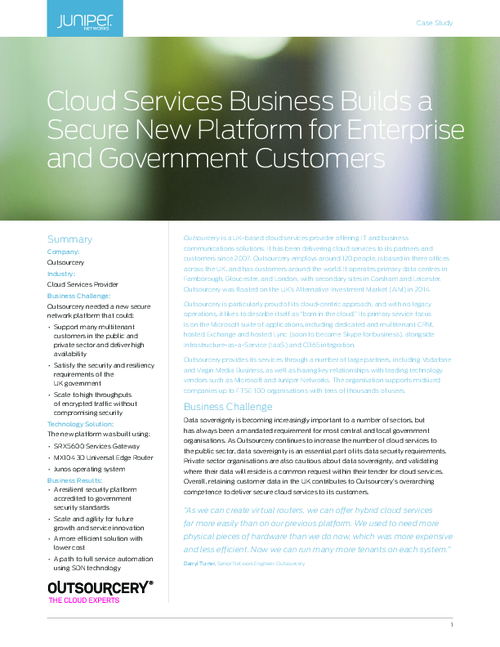 Cloud Services Business Builds a Secure New Platform for Enterprise and Government Customers