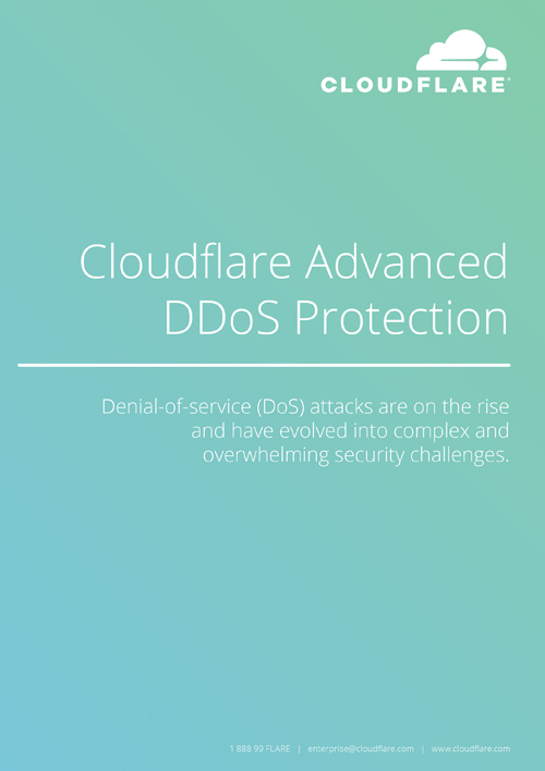 Cloudflare Advanced DDoS Protection
