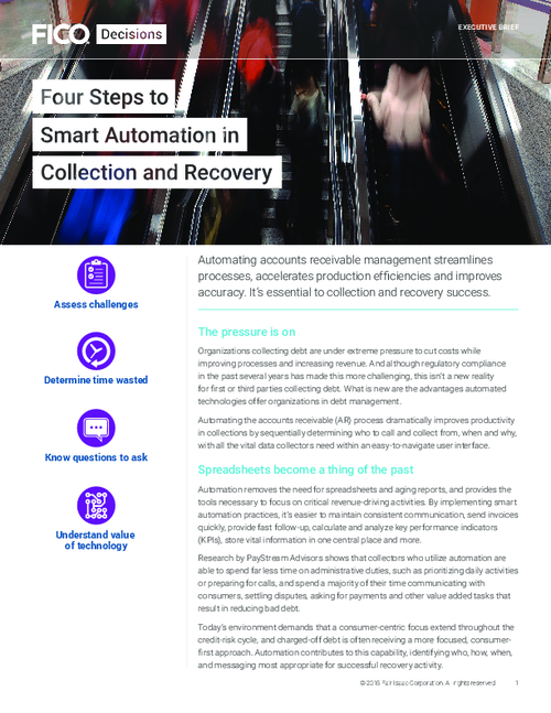 Collections Management: 4 Steps to Smart Automation in Collection and Recovery