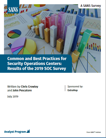 Best Practices for Security Operations Centers: Results of the 2019 SANS SOC Survey