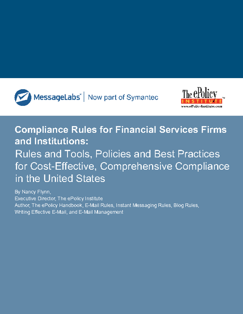 Compliance Rules for Financial Firms and Institutions