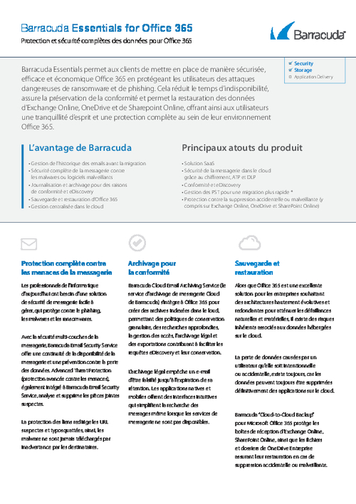 Comprehensive Security and Data Protection for Office 365 (French Language)