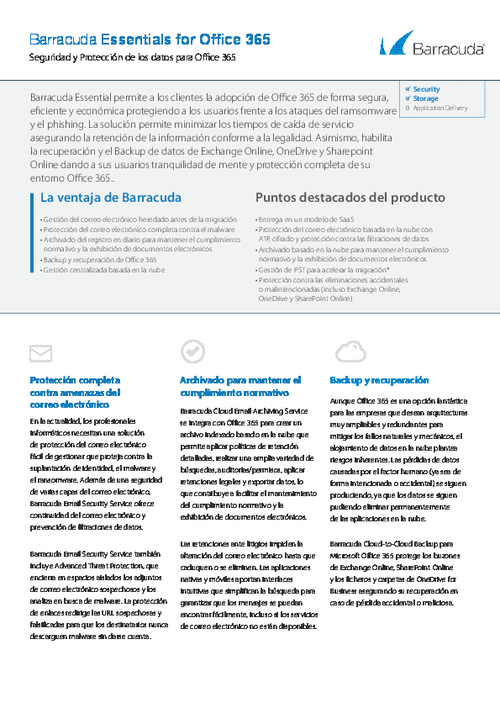 Comprehensive Security and Data Protection for Office 365 (Spanish Language)