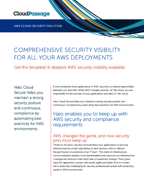 Comprehensive Security Visibility For All Your AWS Deployments