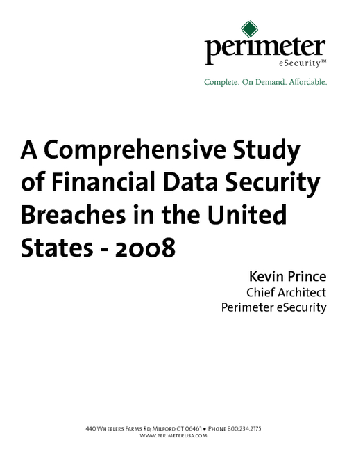 A Comprehensive Study of Financial Data Security Breaches in the United States