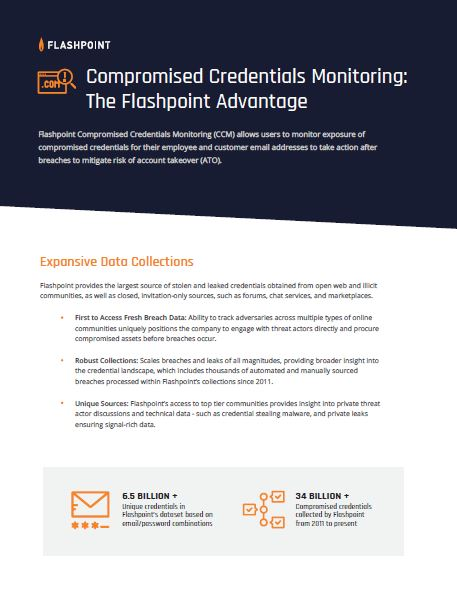 Compromised Credentials Monitoring Brief