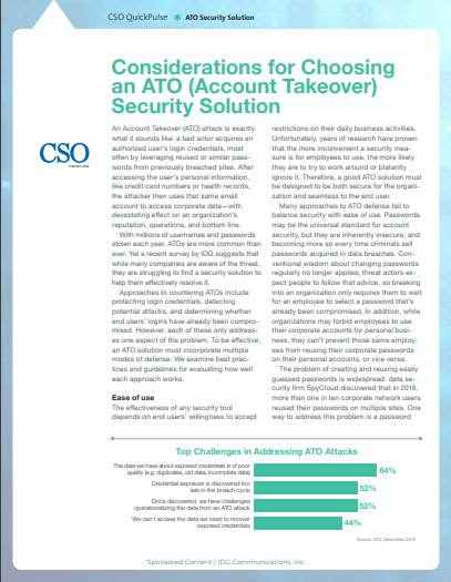 Considerations for Choosing an ATO (Account Takeover) Security Solution