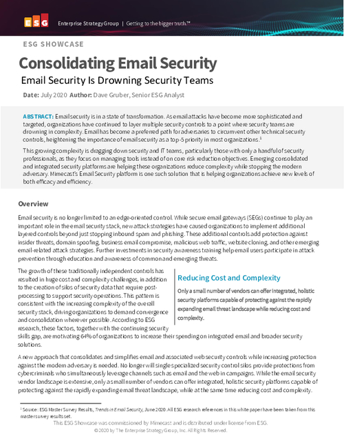 Consolidating Email Security