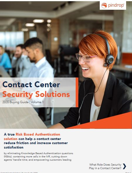 Contact Center Security Solutions 2020 Buying Guide