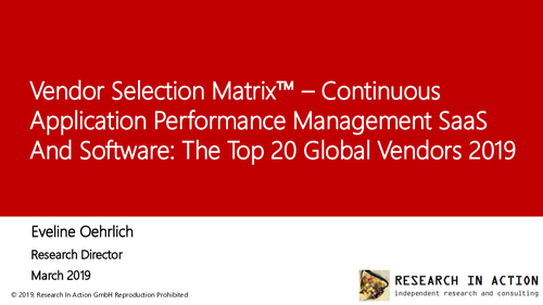 Continuous Application Performance Management SaaS and Software: Market Overview and Top Vendors