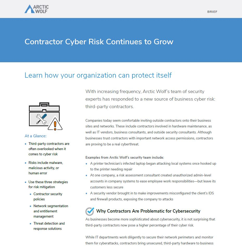 Contractor Cyber Risk Continues to Grow